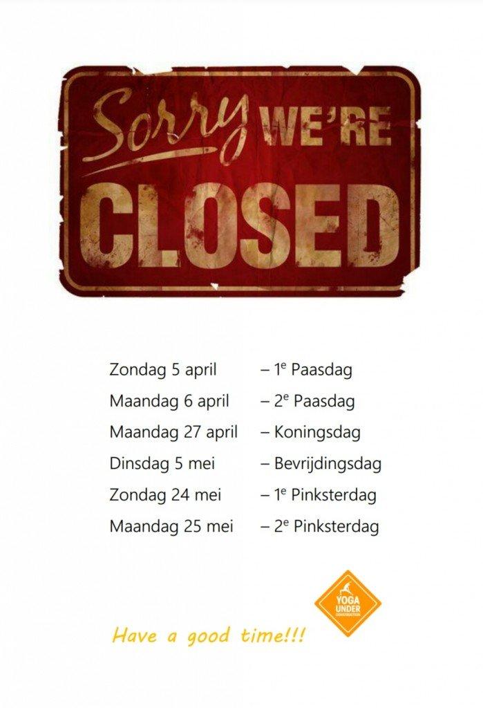 Yogastudio gesloten